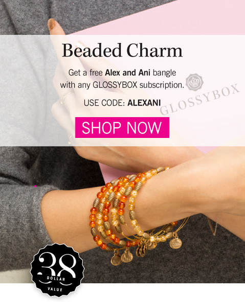 glossybox alex and ani gift coupon code