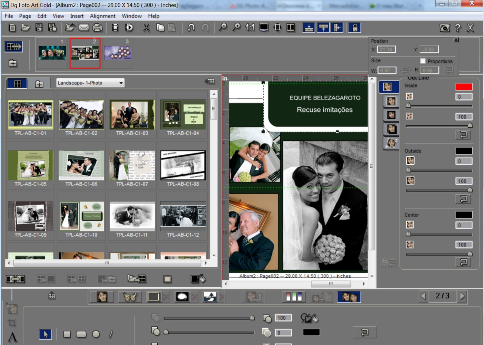 reputable site cca25 4f843 Salvar fotos dg foto art trial