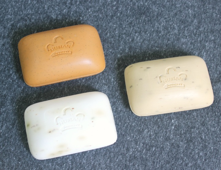 Nubian Heritage Body Care Nubian Heritage Body Care Honey & Blackseed Soap with Apricot Oil Shea Butter Soap with Lavender & Wildflowers Goat's Milk & Chai Soap with Rose Extracts bars