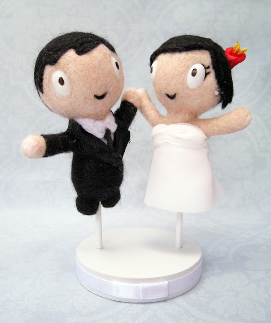Felted Cake Topper