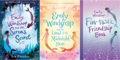 bookcovers for EMILY WINDSNAP AND THE SIREN'S SECRET & Land of the Midnight Sun & her Fin-tastic Friendship Book by Liz Kessler