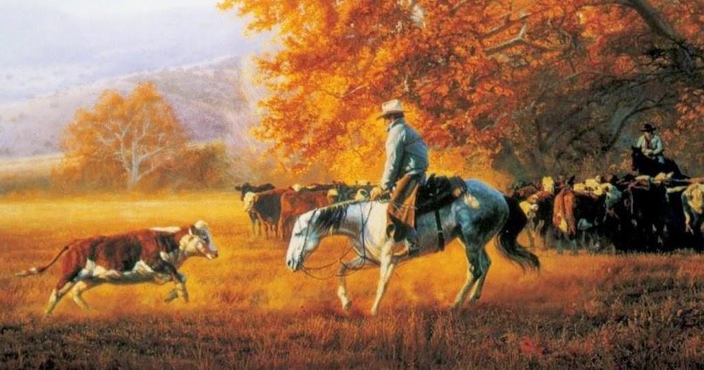 Im genes arte pinturas hermosos cuadros con caballos y paisajes - Cuadros de vacas ...