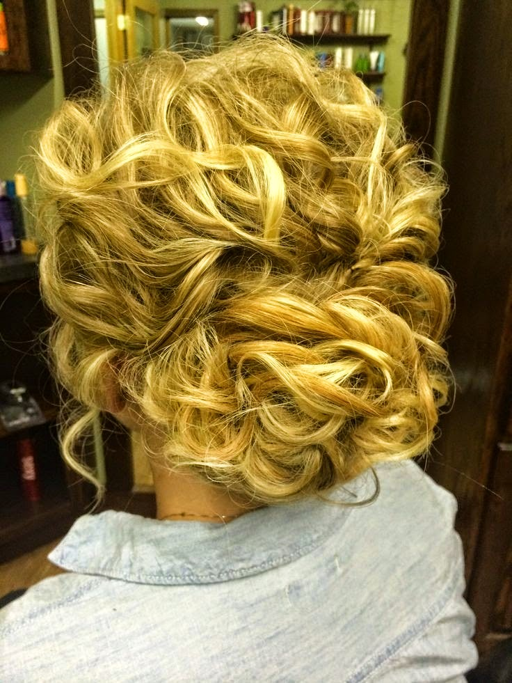 Hairstyles And Women Attire Messy Updo Hairstyles For Curly Hair