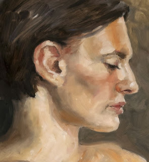 Mercedes, portrait in oils from three hour sitting, Shannon Reynolds