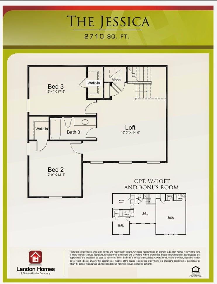 Landon homes featuring the jessica floor plan benton for Landon homes floor plans