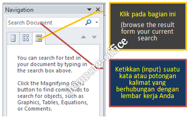 Search Pada Navigation Pane