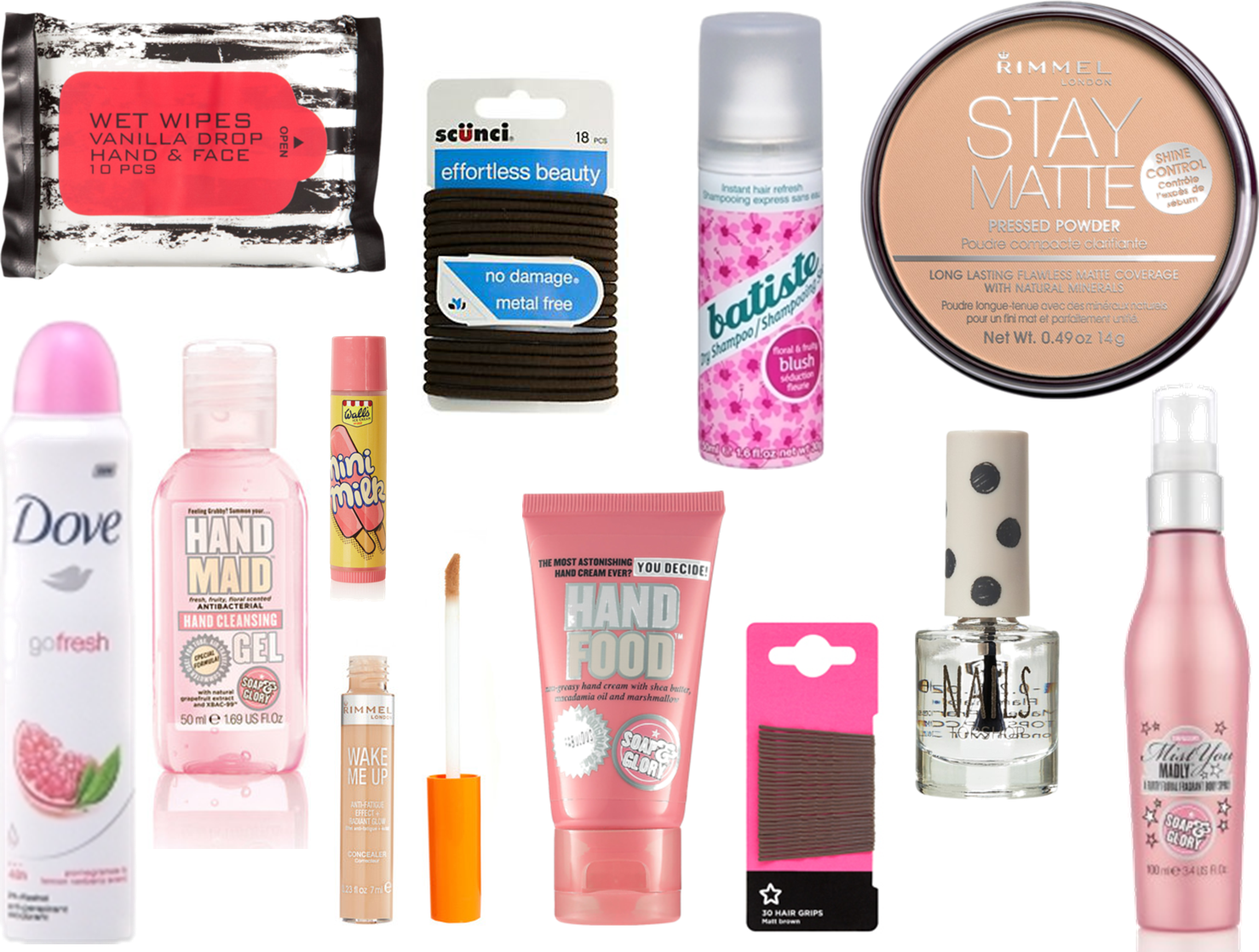4 essential schoolbag beauty products