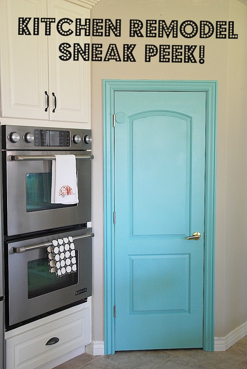 Kitchen Remodel Sneak Peek And A Painted Pantry Door Pallet Furniture Collection