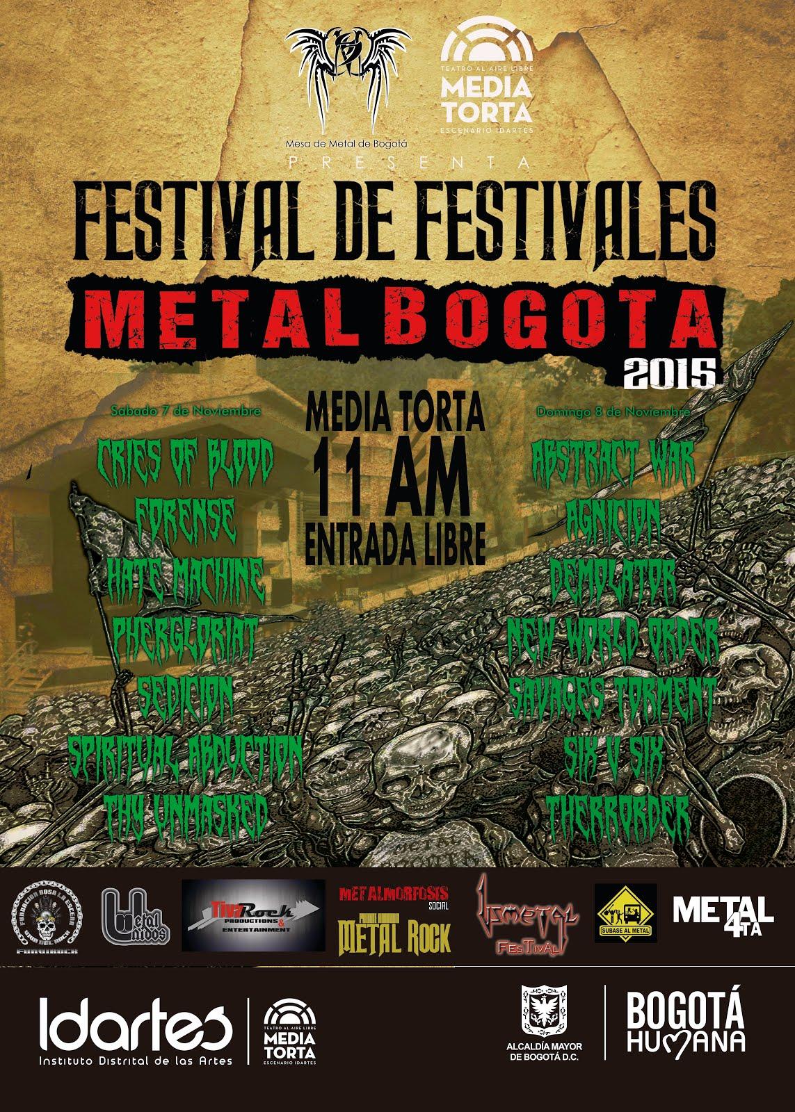 Festival de Festivales Metal Bogotá 2015