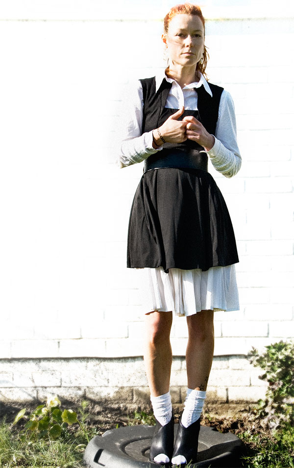 Psynopsis Asos Dress White H&M Shirt and Skirt Topshop Boots