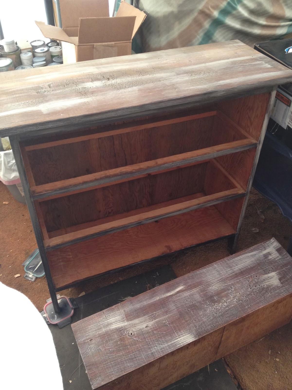 refurbished antique dresser before