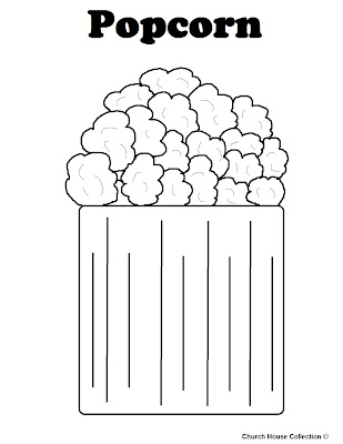 coloring pages popcorn - photo#20