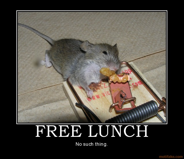 No free lunch in social media
