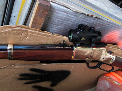 Dot on Lever Action Rifle