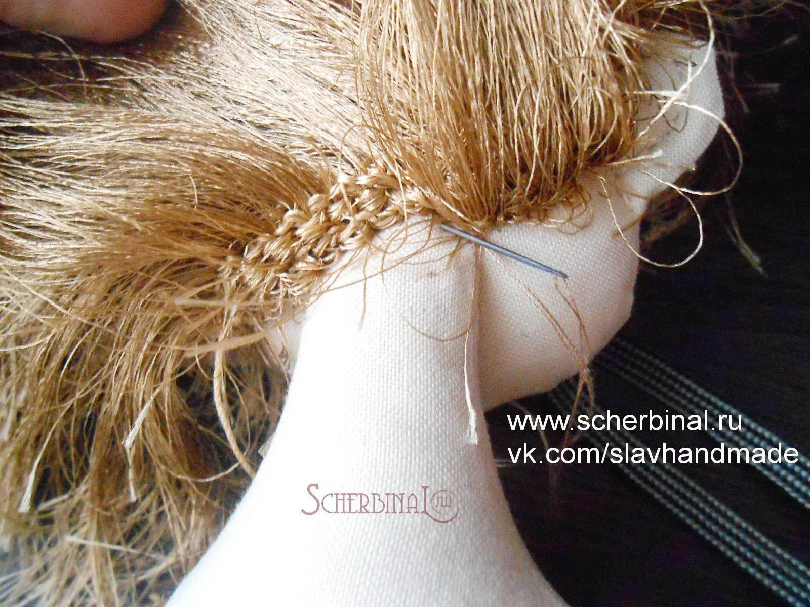 косичка для пришивания тресс схема плетения