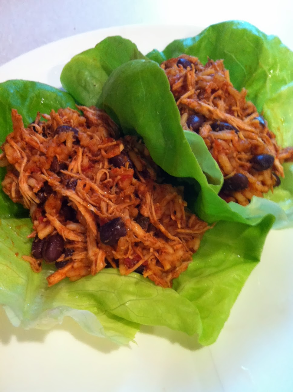 Beauties and the Feast:: Slow-Cooker Spicy Chicken Lettuce Wraps