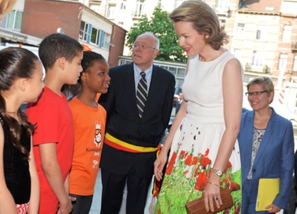 Queen Mathilde Attended Ceremony Of The Federal Poverty Reduction Prize