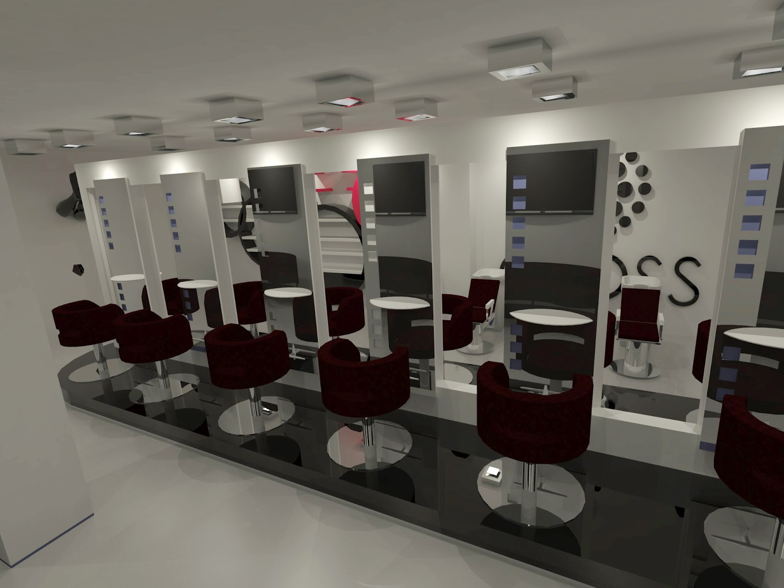 Dise o de interiores escuela de arte de motril sal n de belleza gloss por javier escobar - Interiores de salones ...