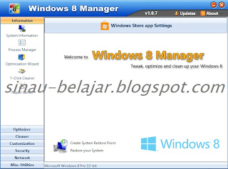 Download Windows 8 Manager dengan Patch Keygen