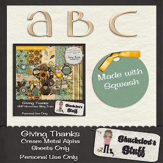 Giving Thanks Alpha Freebie