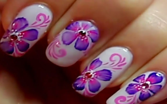 Japan Flowers Nails Art