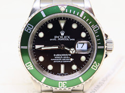 "ROLEX GREEN SUBMARINER ""KERMIT"" - ROLEX 16610 - SERIE D YEAR 2006"