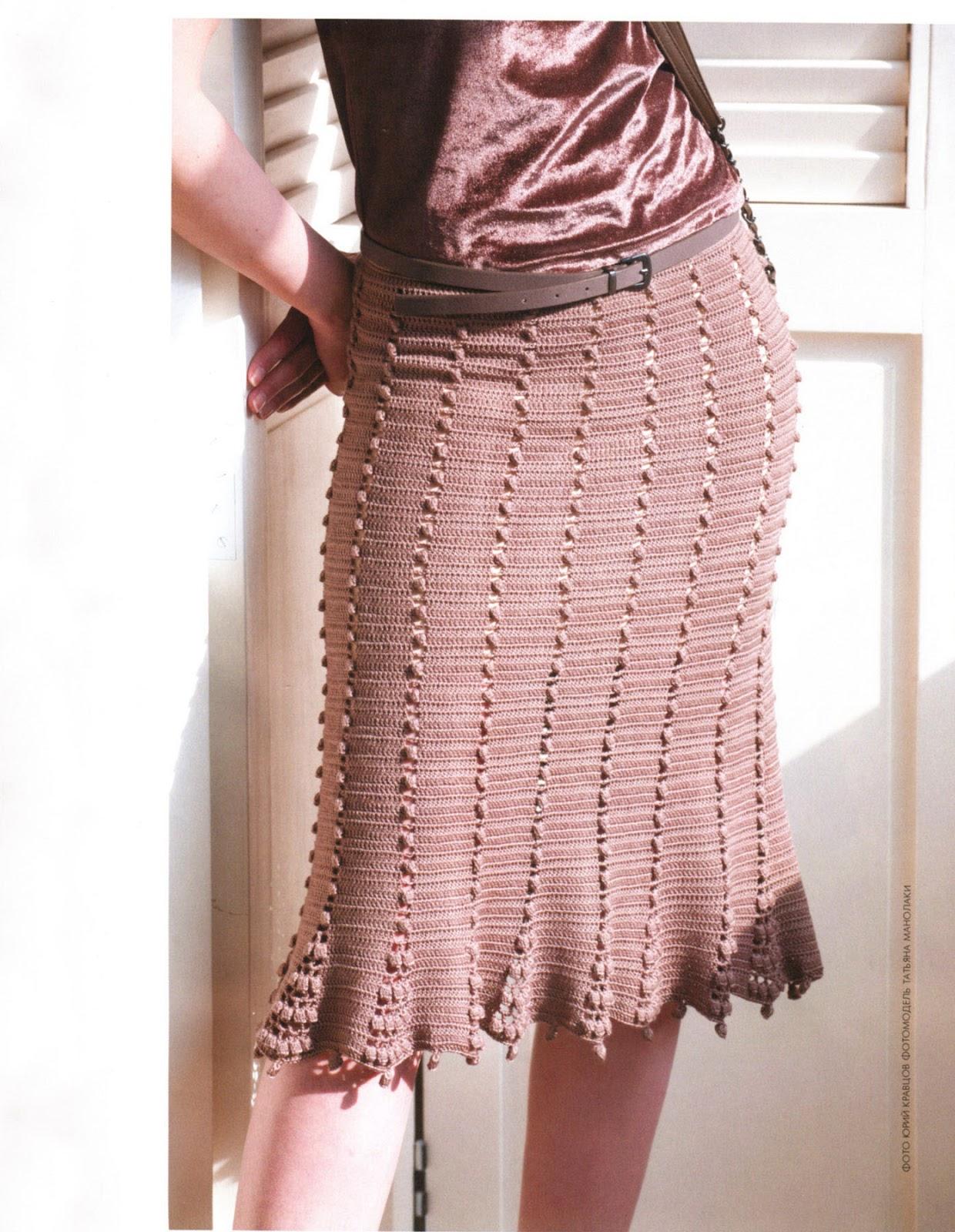 Vestido + Saia em crochê- Revista Mod