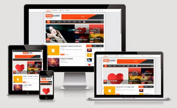 Minima Colored 2.1 Responsive Blogger Template