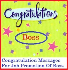 congratulation messages boss job promotion