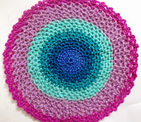 Aqua and Fuchsia Doily