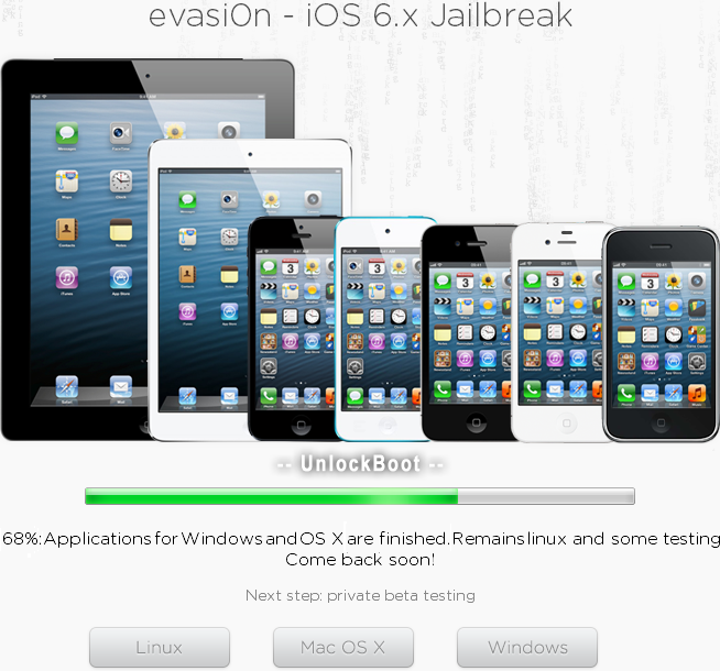 Jailbreak iOS 6.1 with Evasi0n Tools