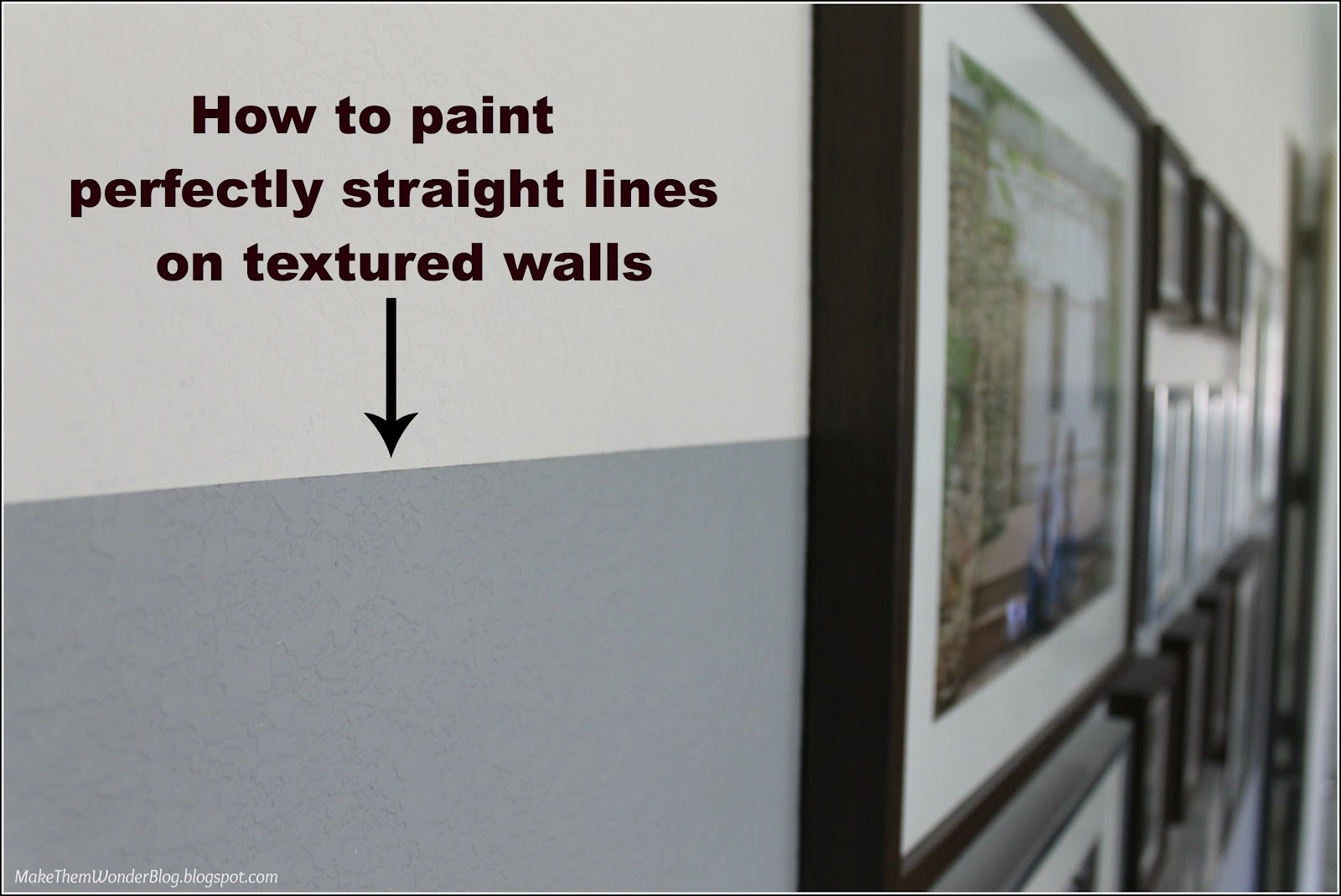 Make them wonder how to paint straight lines on textured for Painting lines on walls
