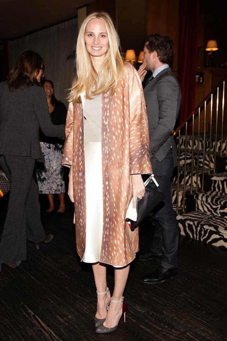 Lauren Santo Domingo in bambi Carven coat