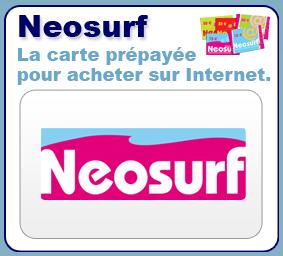 5 coupons de rechargement neosurf