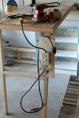 DIY fold-up worktable
