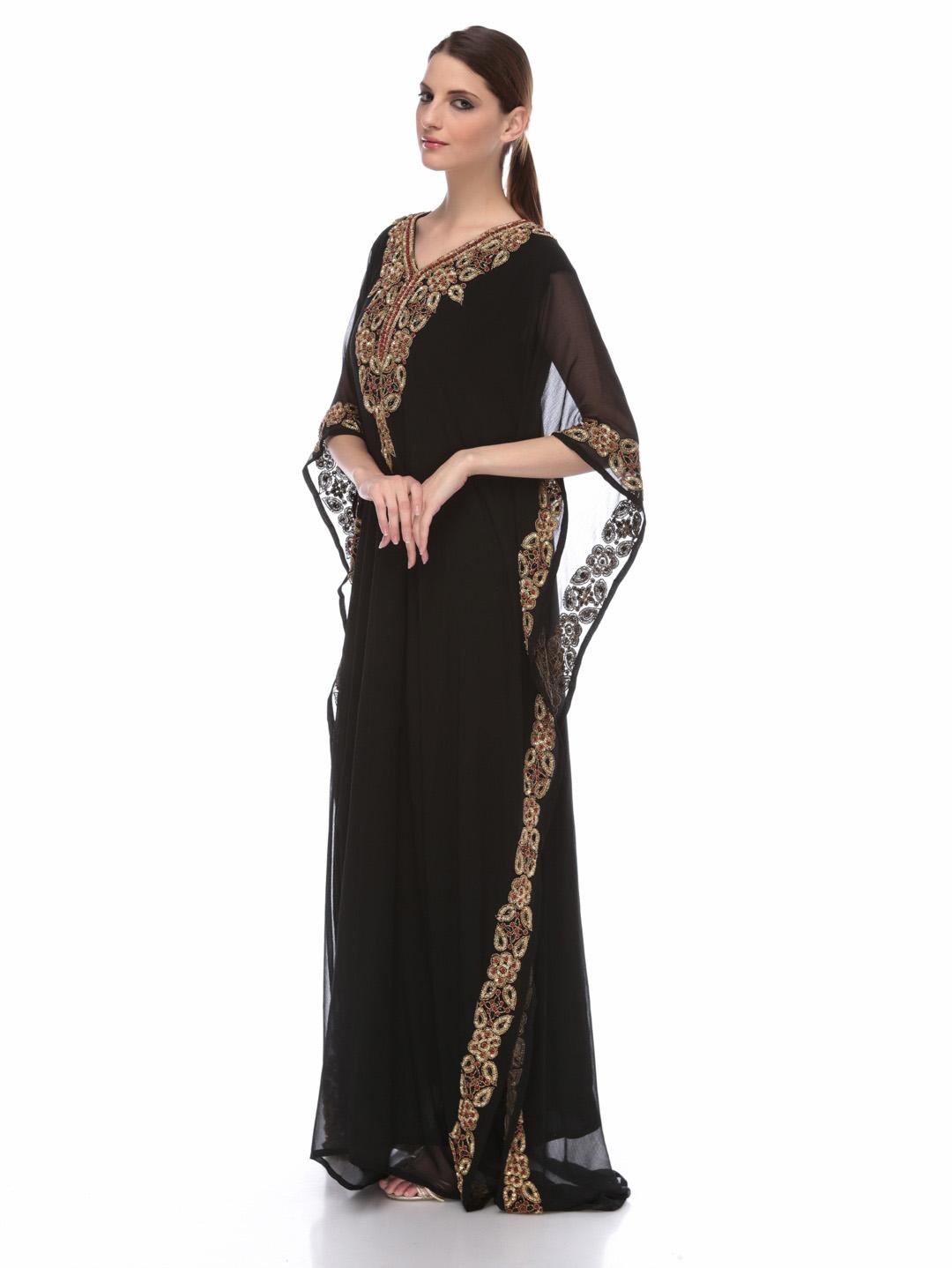 Modern arabic dress - Jalabiya Designs 2013 Arabic Kaftan Dresses Collection For Girls