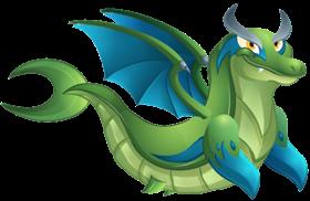imagen del dragon delfin de dragon city
