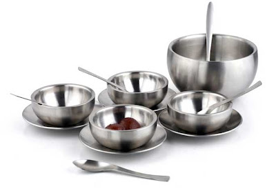 Stainless steel kitchen utensils serve ware tableware cutlery and