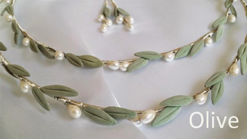 Stefana olive crowns for wedding