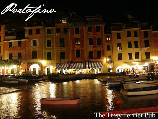 Portofino Harbor at night, magic - tipsyterrier.blogspot.com