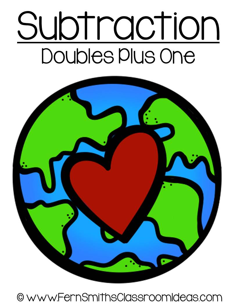 Earth Day - Subtract Doubles Plus One Center Game