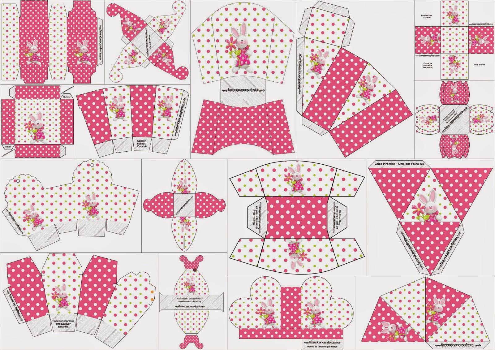 Pascua en Rosa: Cajas para Imprimir Gratis. | Ideas y material ...