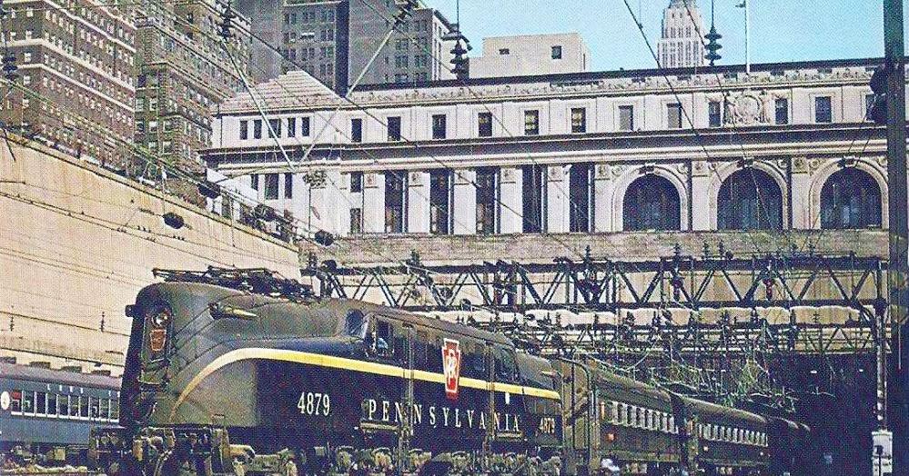 Transpress Nz Pennsylvania Railroad Gg1 Leaves Penn