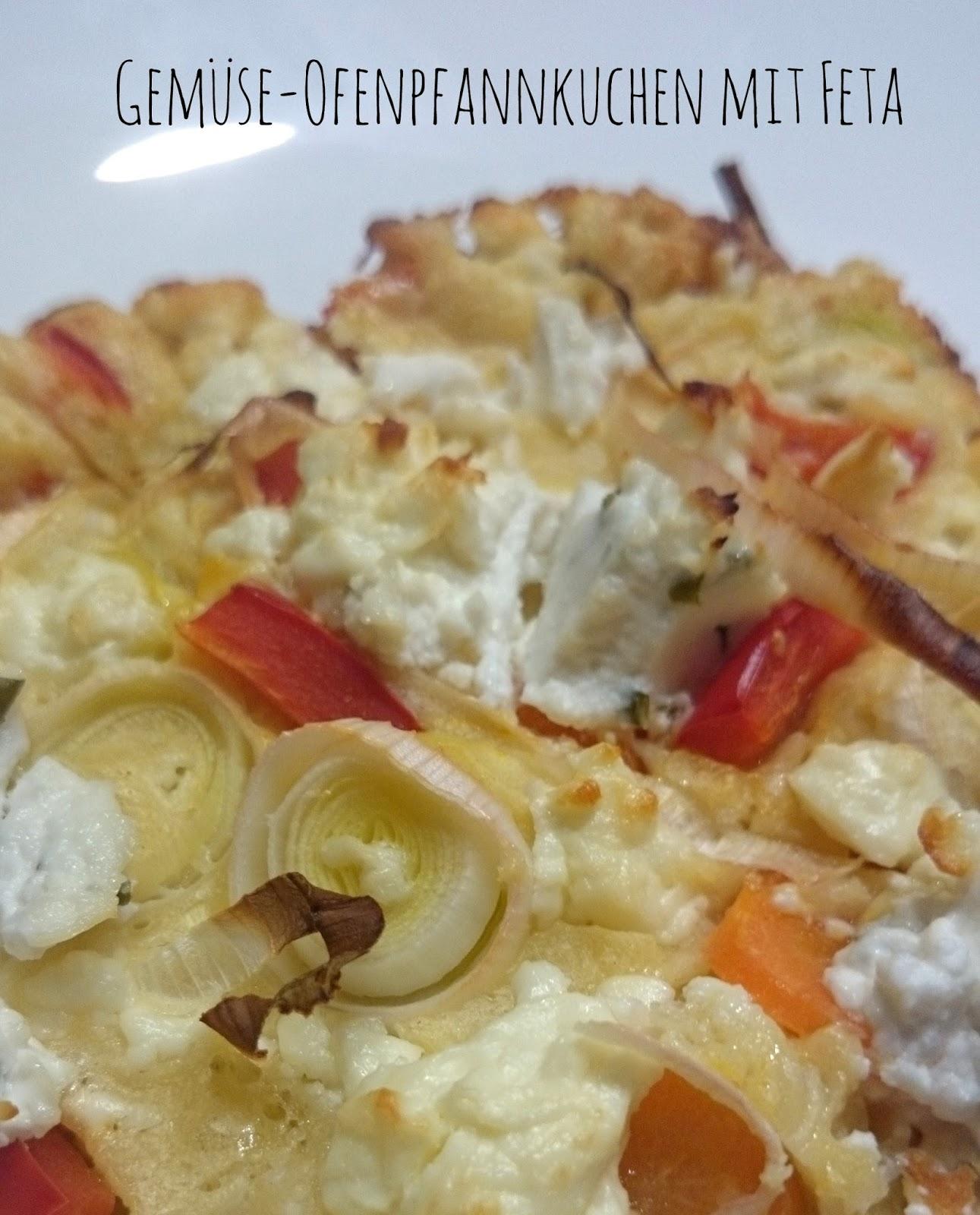 Gemüse-Ofenpfannkuchen mit Feta