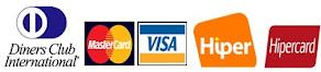 Pague com cartão de crédito ou débito