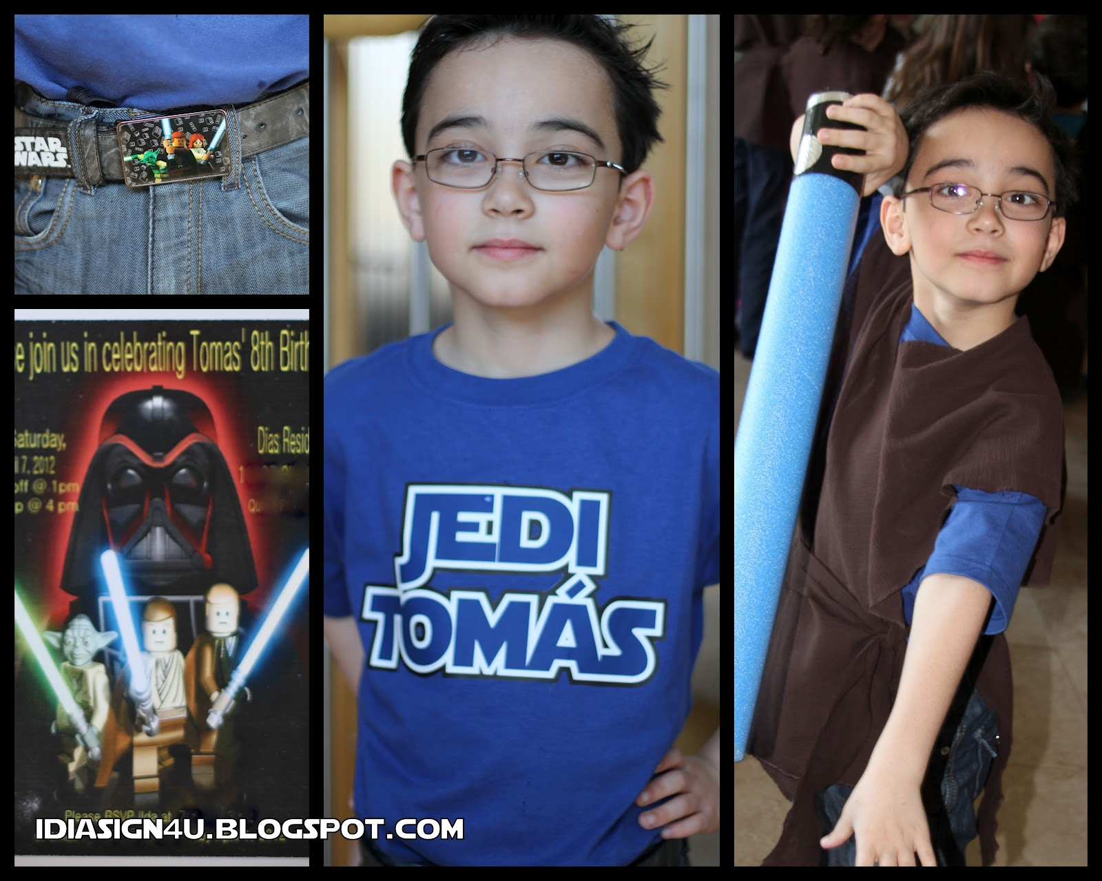Design your own t-shirt birthday party - I Made Him His Own Jedi Shirt Click Here For How To Make Your Own Personalized Shirt All Of His Little Friends Got A Jedi Robe As Well Super Easy No Sew