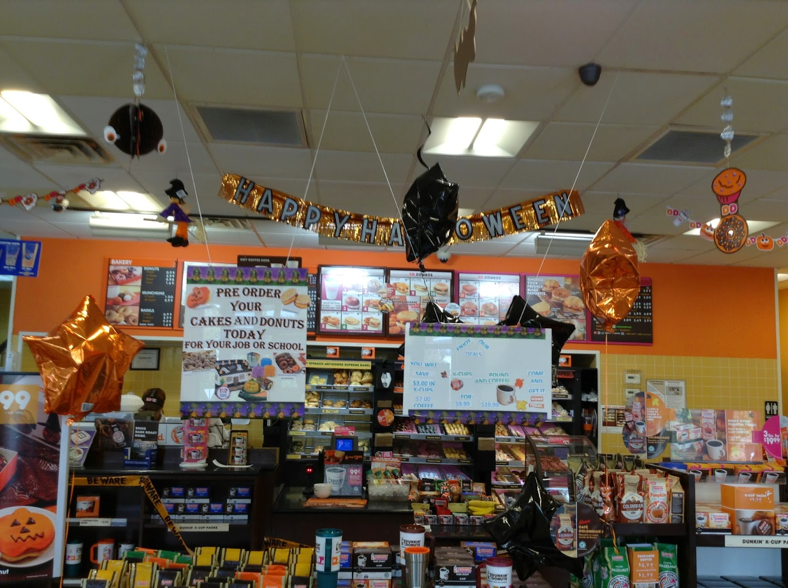 the holidaze: halloween at dunkin donuts - a holidaze tribute