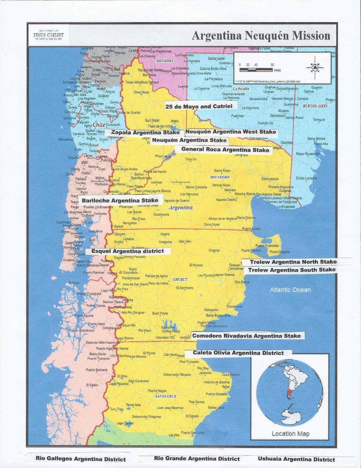 Lovells In Argentina Argentina Neuquen Mission - Zapala argentina map