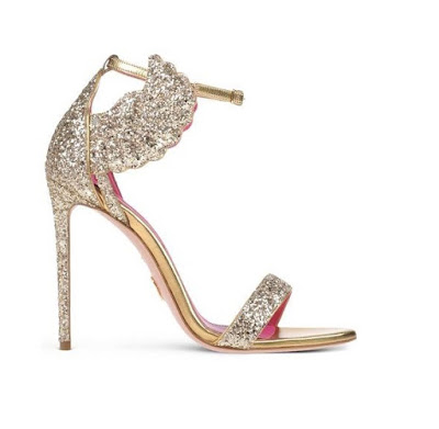 Oscar Tiye glittery high heeled stiltto sandals