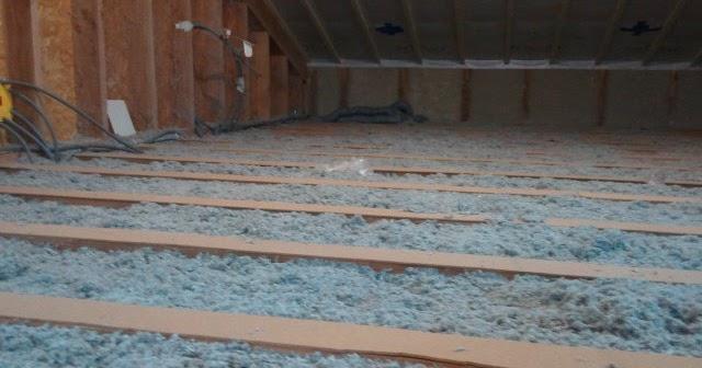 Notre maison ossature bois isolation paille  isolation du solivage et pose du plancher de l'étage # Isolation Plancher Bois Étage
